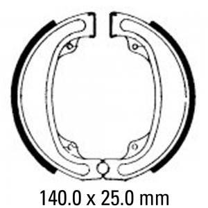 FERODO BRAKE SHOES FSB747
