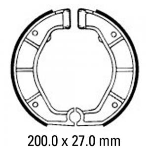 FERODO BRAKE SHOES FSB863