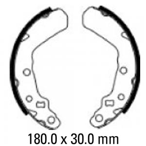 FERODO BRAKE SHOES FSB929