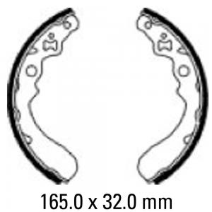 FERODO BRAKE SHOES FSB934