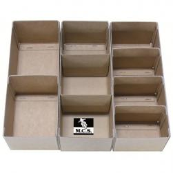 "PARTS BOX 12""x4""x4"" 2 COMP(1 DIV)**"