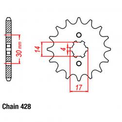 SPROCKET 13T HON NBC110 428