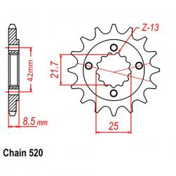 SPROCKET 13T KAW, SUZ
