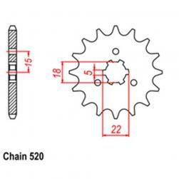 SPROCKET 11T KAW, SUZ