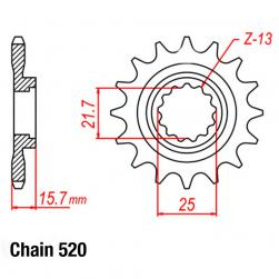SPROCKET 15T  NEW 520P