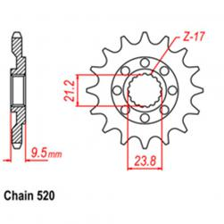 SPROCKET 13T  HONDA