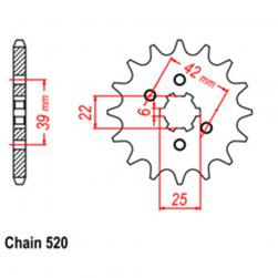 SPROCKET 14T HONDA