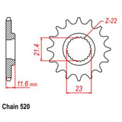 SPROCKET 13T YAMAHA