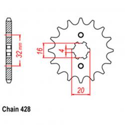 SPROCKET 14T YAMAHA