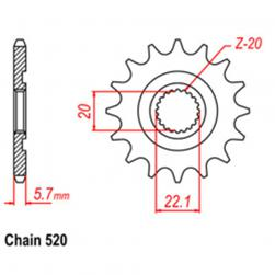 SPROCKET 12T YAMAHA