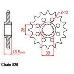 SPROCKET 15T HONDA 520