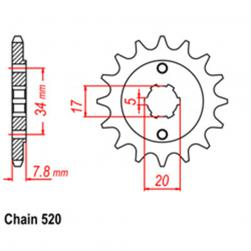 SPROCKET 12T HONDA