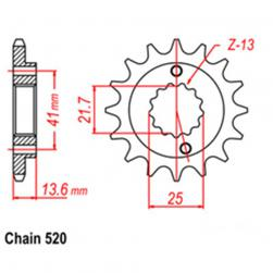 SPROCKET 13T HON, KAW