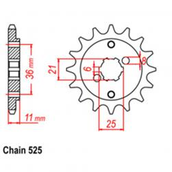 SPROCKET 15T HONDA