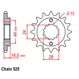 SPROCKET 16T HONDA