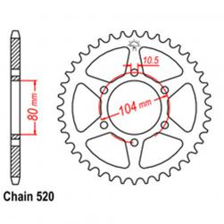 SPROCKET 39T KAW, POLARIS