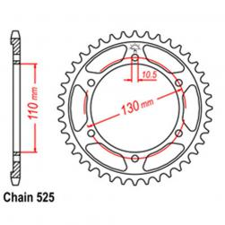 SPROCKET 43T YAMAHA/SUZ