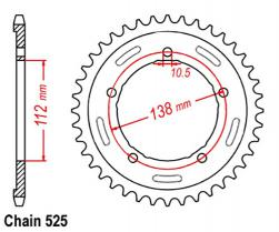 SPROCKET 38T YAMAHA 525