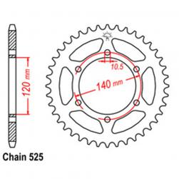 SPROCKET 38T KAW, SUZ