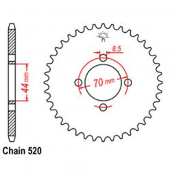 SPROCKET 22T KAW, SUZ
