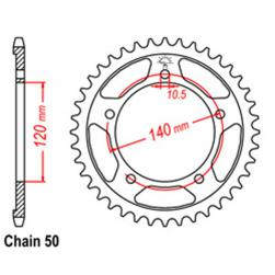 SPROCKET 40T SUZ, TRIUMPH