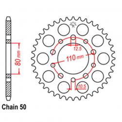 SPROCKET 38T HONDA***