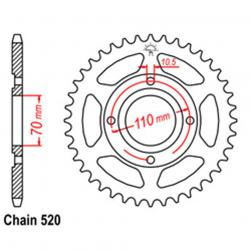 SPROCKET 44T HONDA