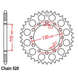 SPROCKET 44T HONDA / KAW