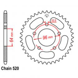 SPROCKET 37T HONDA