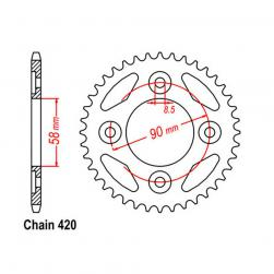 SPROCKET 34T HONDA NBC110  420
