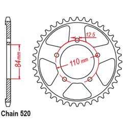 SPROCKET 40T HONDA CMX500