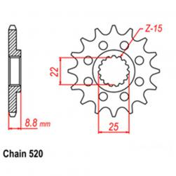 SPROCKET 13T KTM, POLARIS
