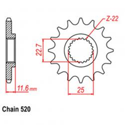 SPROCKET 13T POLARIS