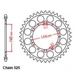 SPROCKET 42T BMW / HUSQ NUDA