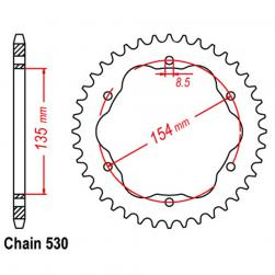 SPROCKET 40T DUCATI (ADAPTOR REQUIRED)