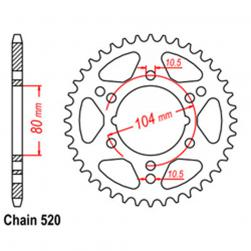 SPROCKET 38T KAW, POLARIS