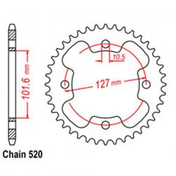 SPROCKET 37T POLARIS