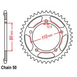 SPROCKET 43T TRIUMPH