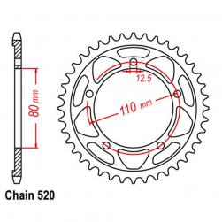 SPROCKET 42T TRIUMPH 520p
