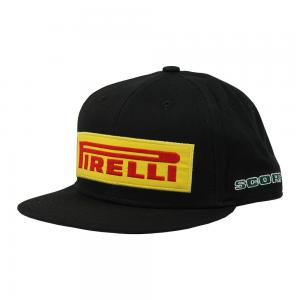 CAP PIRELLI BLACK FLAT BRIM SCORPION JUNIOR