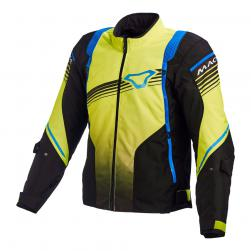 "MACNA CHARGER JACKET BLK/ YEL/ BLU 40"" MD"