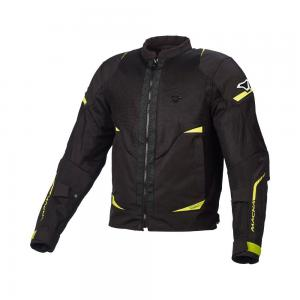 MACNA HURRACAGE JACKET BLACK/FLURO YELLO