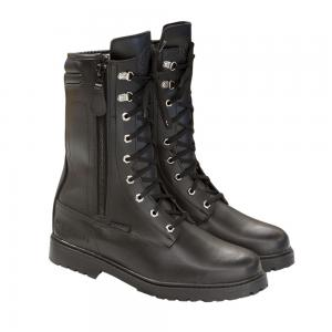 MERLIN BOOTS COMBAT LEATHER BLACK