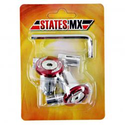 H/BAR ENDS STATE MX OFF ROAD RED