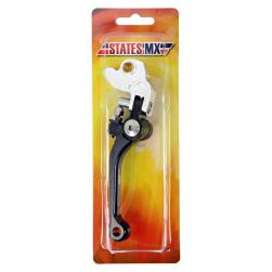 LEVER BRAKE FLD/FLX YAM/SUZ/KAW BLK