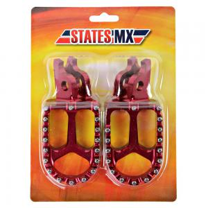 FOOTPEGS STATES MX HONDA RED