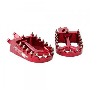 FOOTPEGS STATES MX SUZUKI RED