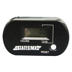 HOUR METER RESETABLE STATE MX BLACK