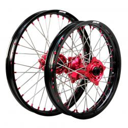 WHEEL SET HONDA BLK/RED