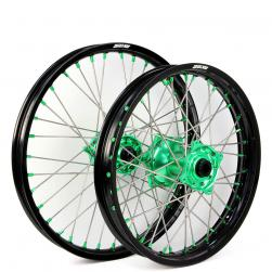 WHEEL SET KAWASAKI BLK/GRN/GRN